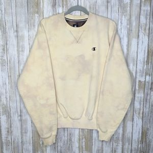 Champion Custom Bleach Dye Crewneck Medium